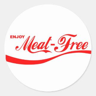 Goce de Carne-libre Etiquetas Redondas