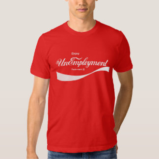 Goce de la camiseta del friki del desempleo (rojo) playera