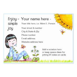 Goce de la tarjeta simple del biz de la alegría plantilla de tarjeta de visita