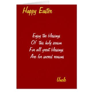 Goce de las tarjetas de bendición-tío pascua