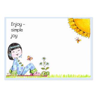 Goce de las tarjetas de nota simples del amor de l plantilla de tarjeta de negocio