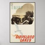 Goce de los lagos Gippsland Impresiones
