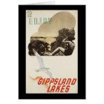 Goce de los lagos Gippsland Tarjeta