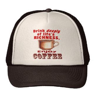 Goce del café gorros bordados