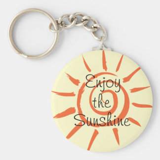 Goce del llavero del botón de la sol