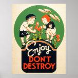 Goce. No destruya Poster