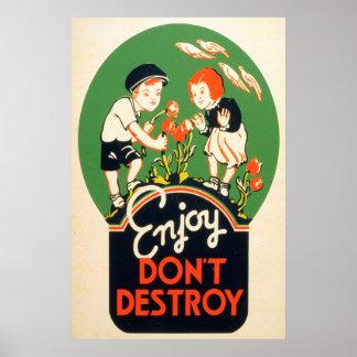 Goce, no destruya posters