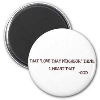 God 2 Inch Round Magnet