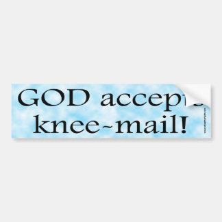 God Accepts Knee Mail Bumper Sticker