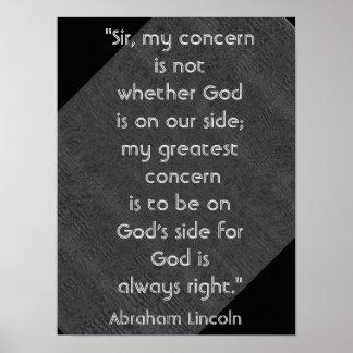 God Always Right -- art print