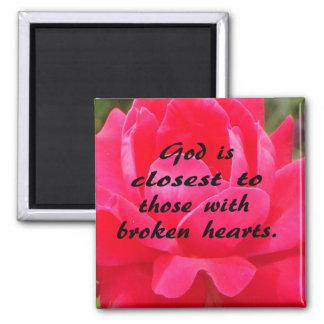 God and Broken Hearts Refrigerator Magnets