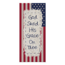 God and Country Flag Poster