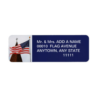 GOD AND COUNTRY LABEL RETURN ADDRESS LABEL