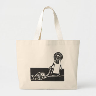God and Fish Canvas Bags