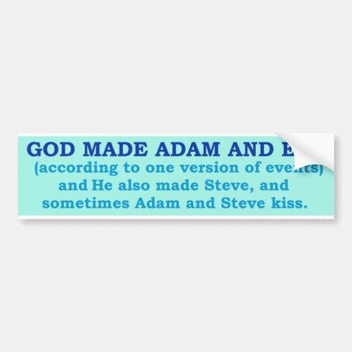 GOD AND GAYS!  Bumper sticker.