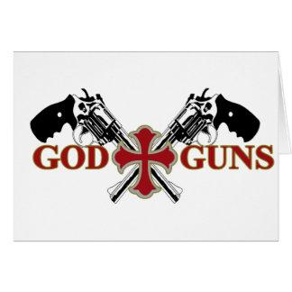 God And Guns Greeting Card