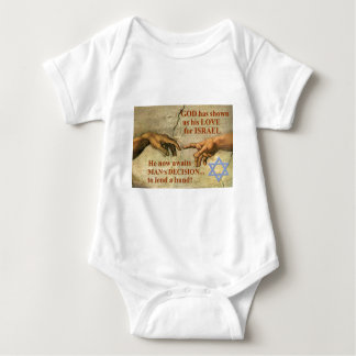 God...and Man...lend a hand for Israel Baby Bodysuit