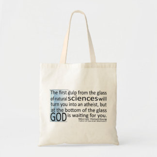 God and Science with Beaker Bag for Light Colors