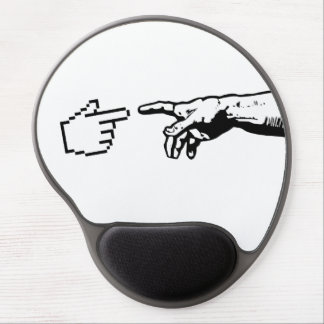 God and The Machine Hands Gel Mouse Pad