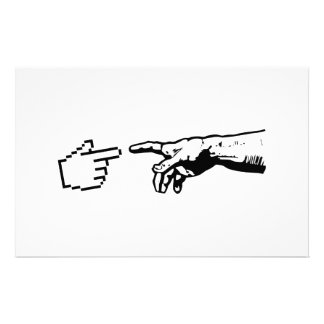 God and The Machine Hands Stationery