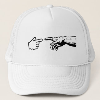 God and The Machine Hands Trucker Hat