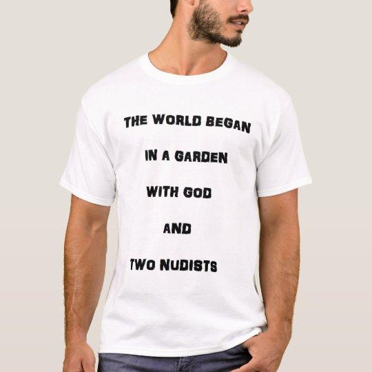 God and Two Nudists T-Shirt
