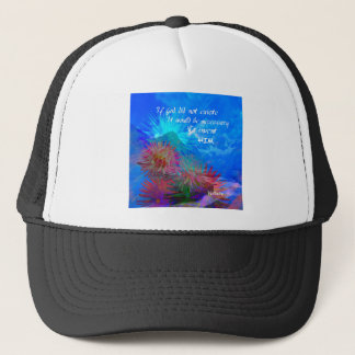 God and Voltaire in a blue sky. Trucker Hat