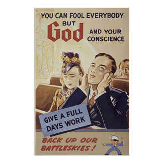 God and your Conscience Poster
