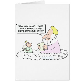 god angel biodegradable creation greeting card