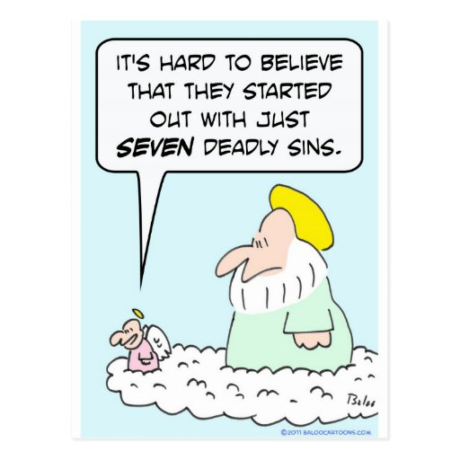 god angel seven deadly sins postcard