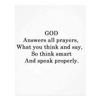 GOD ANSWERS ALL  PRAYERS FLYER