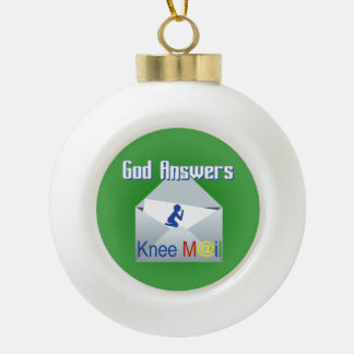 God Answers Knee Mail Christmas Ornament