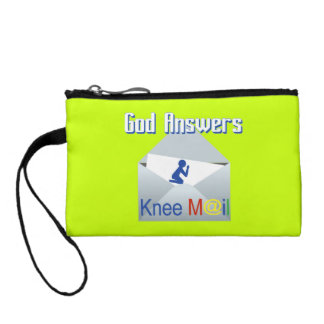 God Answers Knee Mail Coin Purse