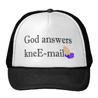 God answers kneE-mail religious gift Hat