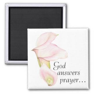 God Answers Prayer Lilies Magnet