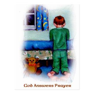 GOD ANSWERS PRAYER POSTCARD