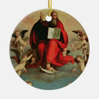God appearing to St. Mary Magdalen and St. Catheri Ceramic Ornament