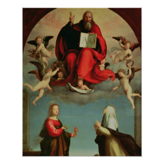 God appearing to St. Mary Magdalen and St. Catheri Poster