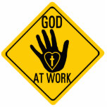 "GOD AT WORK. HEALING HAND LOVE HEART CROSS JESUS STATUETTE<br><div class=""desc"">Jesus commissioned His disciples to preach that the Kingdom has come and to heal the sick through the laying on of our hands. If you are one of the believers that BELIEVE this, then you might want to declare it with this bold pin. Features classic American road sign image with...</div>"