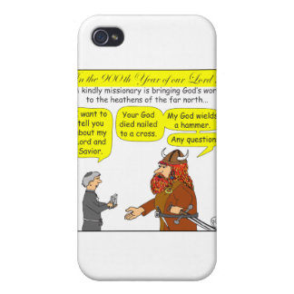 God / Atheist humor Cartoon in color iPhone 4 Covers