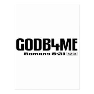 GOD B 4 ME - GOD BEFORE ME - SCRIPTURE POSTCARD