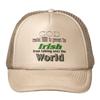 God Beer the Irish and World Conquest Hat