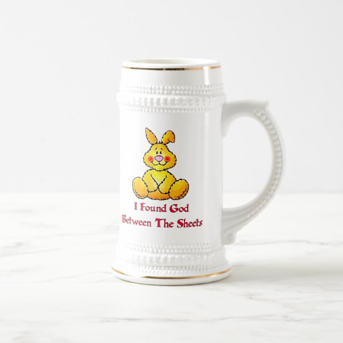 God Between The Sheets Beer Stein