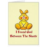 God Between The Sheets Greeting Card