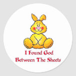 God Between The Sheets Round Stickers