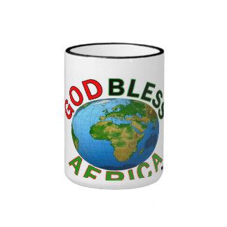 GOD BLESS AFRICA RINGER COFFEE MUG