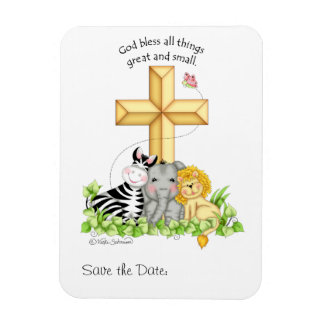 """""""God bless all things..."""" Save the Date Magnet"""