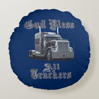 God Bless All Truckers Bunk Pillow