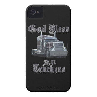 God Bless All Truckers iPhone 4 Cases