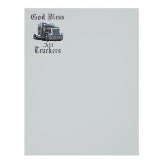 God  Bless All Truckers Letterhead